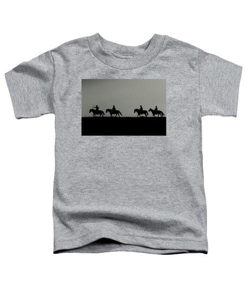 Riding The Range At Sunrise Toddler T-Shirt
