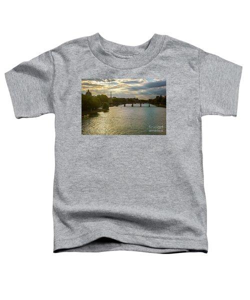River Seine At Dusk Toddler T-Shirt
