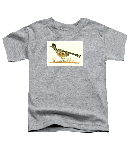Roadrunner Bird Toddler T-Shirt by Juan Bosco