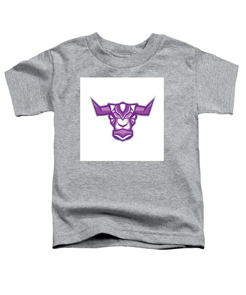 Robot Yak Bull Head Front Toddler T-Shirt