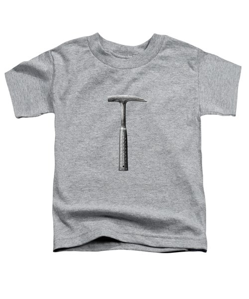 Rock Pick On Plywood 64 In Bw Toddler T-Shirt