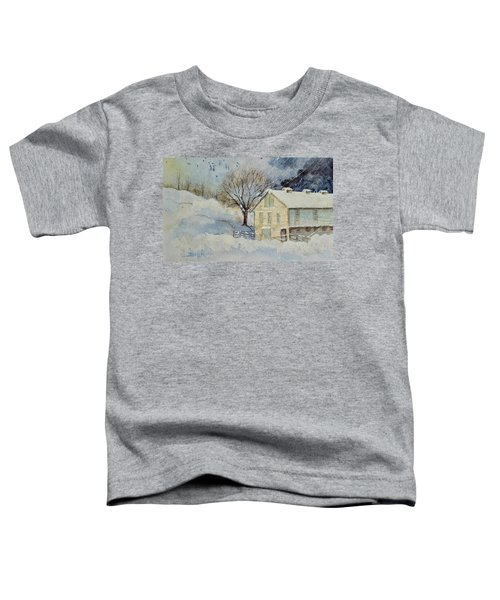 Rockville Farm In Snowstorm Toddler T-Shirt