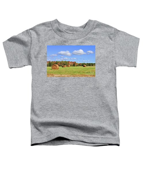 Rolls Of Hay On A Beautiful Day Toddler T-Shirt