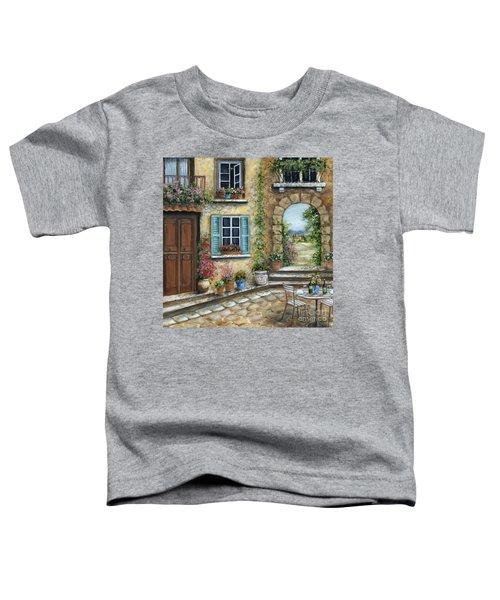 Romantic Tuscan Courtyard II Toddler T-Shirt