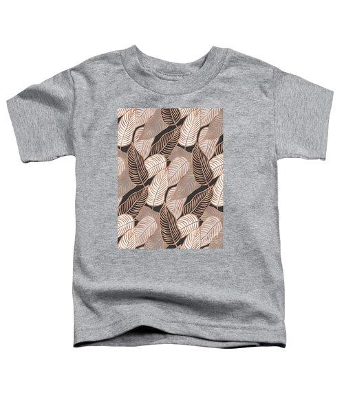 Rose Gold Jungle Leaves Toddler T-Shirt