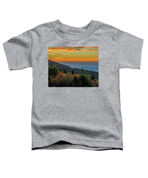 Rough Morning - Blue Ridge Parkway Sunrise Toddler T-Shirt