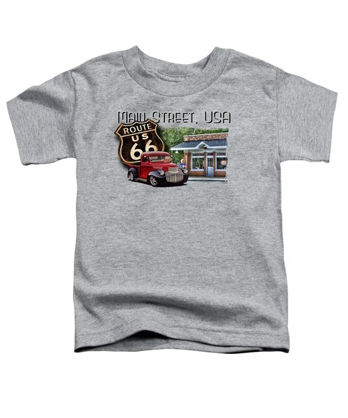 Route 66 Chevy At The Station Toddler T-Shirt
