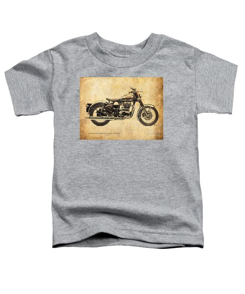 Royal Enfield Classic Chrome 2016, Poster For Men Cave Toddler T-Shirt