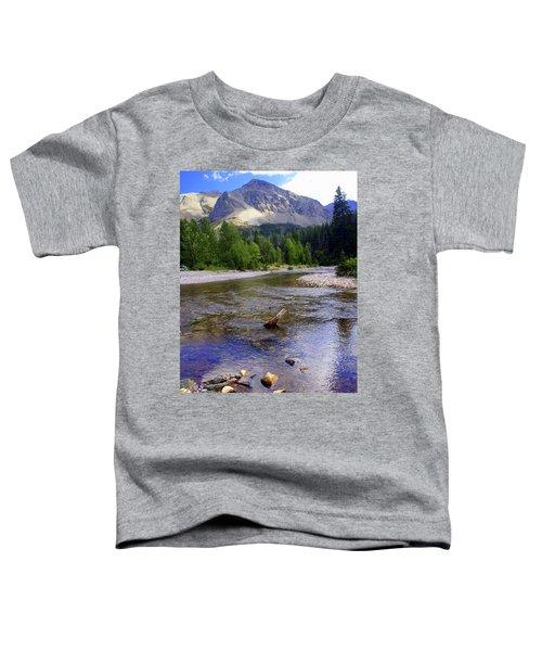 Running Eagle Creek Glacier National Park Toddler T-Shirt