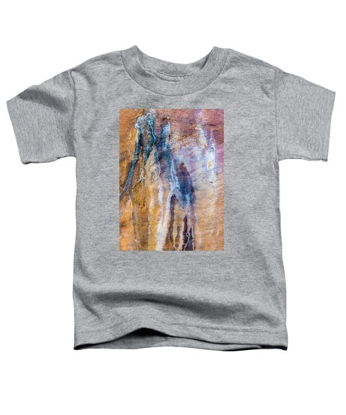 Toddler T-Shirt featuring the photograph Runoff Abstract, Bhimbetka, 2016 by Hitendra SINKAR