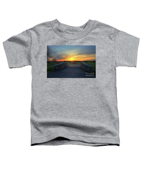Rush Creek Golf Course The Bridge To Sunset Toddler T-Shirt
