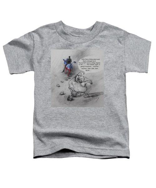 Rush Limbaugh After Obama  Toddler T-Shirt