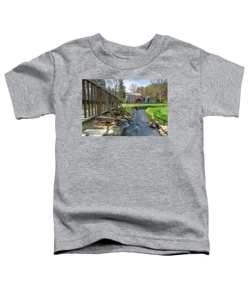 Rushing Water At The Grist Mill Toddler T-Shirt