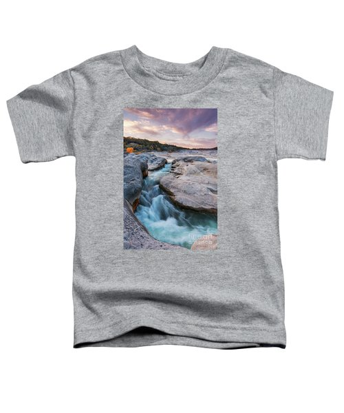 Rushing Waters At Pedernales Falls State Park - Texas Hill Country Toddler T-Shirt