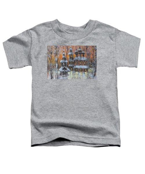 Russian Church Under Snow Toddler T-Shirt