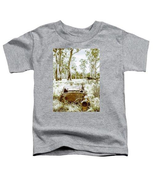 Rustic Australian Car Landscape Toddler T-Shirt