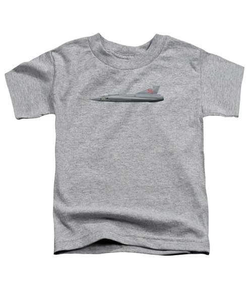 Saab J35j Draken - 35556 - Side Profile View Toddler T-Shirt