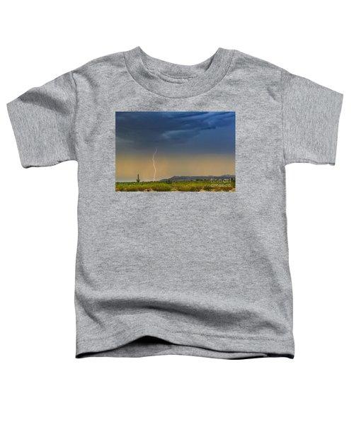 Saguaro With Lightning Toddler T-Shirt