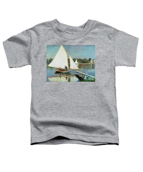 Sailing At Argenteuil Toddler T-Shirt