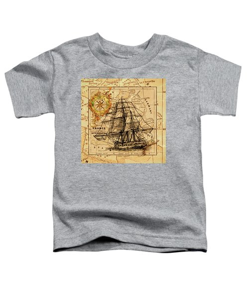 Sailing Ship Map Toddler T-Shirt