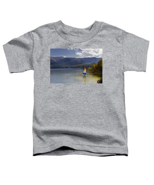 Sailing The Mountain Lakes Toddler T-Shirt