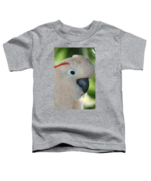 Salmon Crested Moluccan Cockatoo Toddler T-Shirt by Sharon Mau