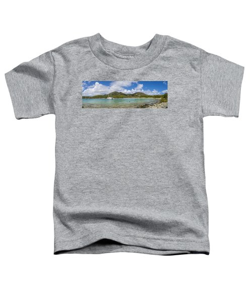 Toddler T-Shirt featuring the photograph Salt Pond Bay Panoramic by Adam Romanowicz