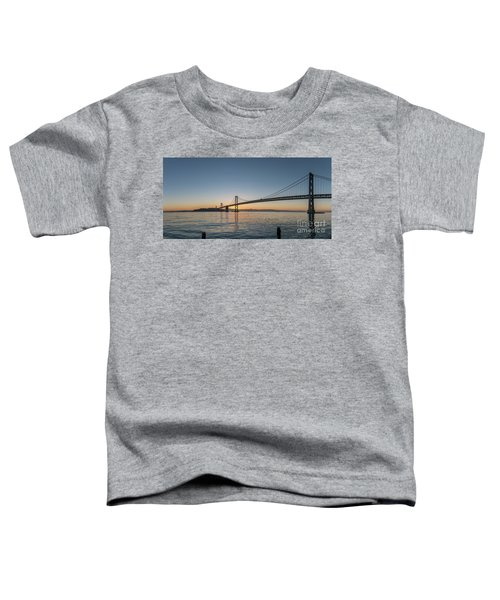 San Francisco Bay Brdige Just Before Sunrise Toddler T-Shirt