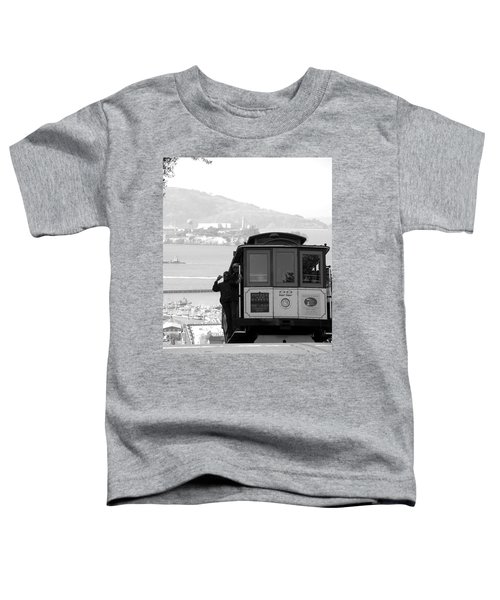 San Francisco Cable Car With Alcatraz Toddler T-Shirt