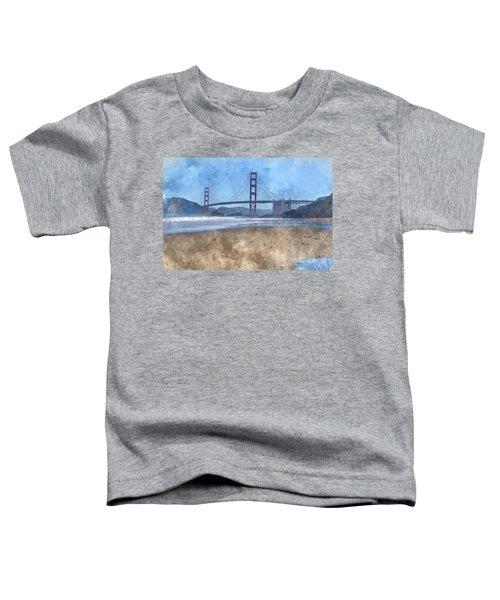 San Francisco Golden Gate Bridge In California Toddler T-Shirt
