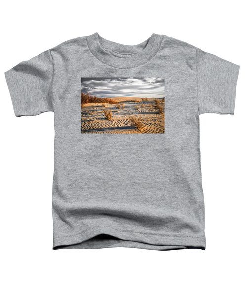 Toddler T-Shirt featuring the photograph Sand Dune Wind Carvings by Donald Brown