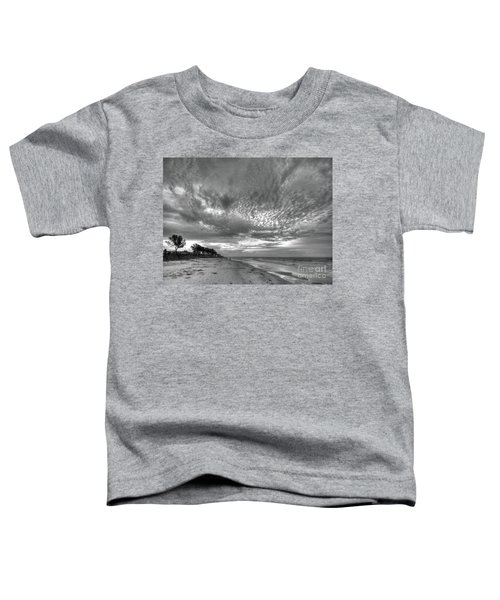 Sanibel Island Sunrise In Black And White Toddler T-Shirt
