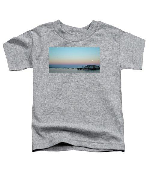 Santa Barbara Pier At Dusk Toddler T-Shirt