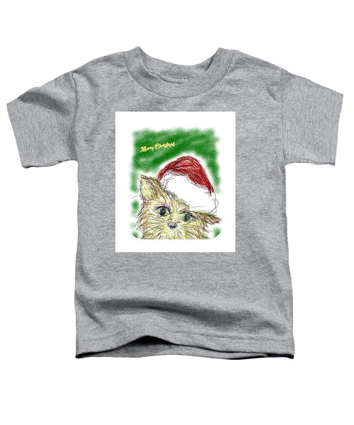 Santa Cat Toddler T-Shirt