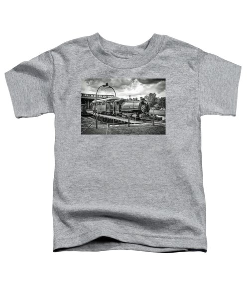 Savannah Central Steam Engine On Turn Table Toddler T-Shirt