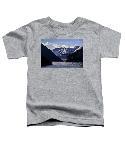 Sawyer Glacier In Tracy Arm Fjord Toddler T-Shirt