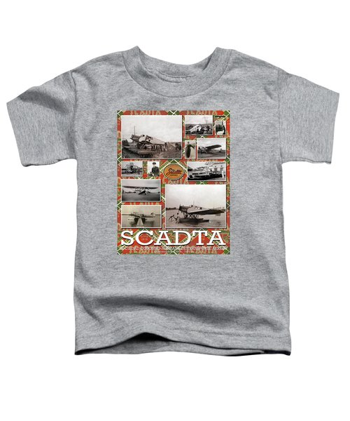 Scadta Airline Poster Toddler T-Shirt