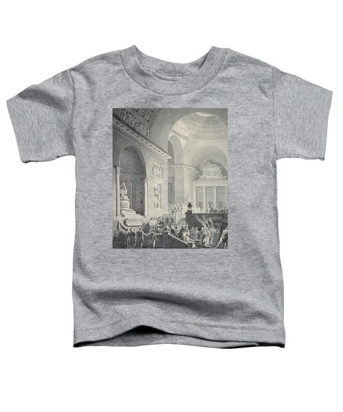 Scene In A Classical Temple  Funeral Procession Of A Warrior Toddler T-Shirt