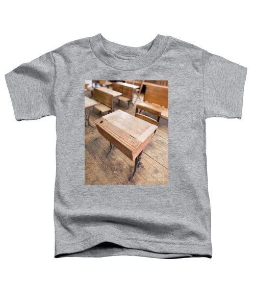 School Desks In A One Room School Building Toddler T-Shirt