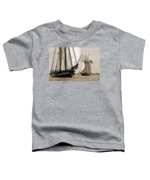 Schooner Pride Of Baltimore And Lynx Toddler T-Shirt