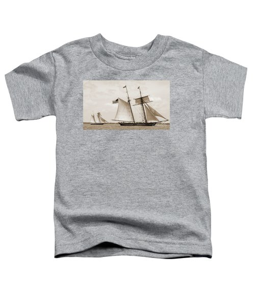 Schooners Pride Of Baltimore And Lynx Toddler T-Shirt