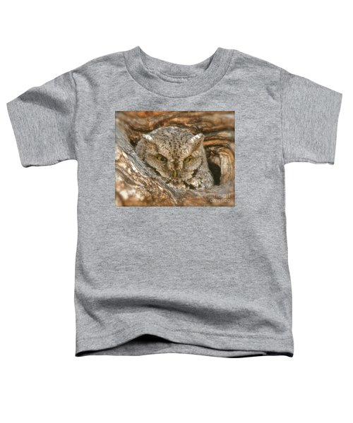 Screech Owl On Spring Creek Toddler T-Shirt