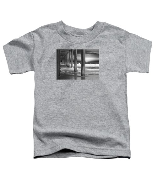 Scripps Pier At Sunset - Black And White Toddler T-Shirt