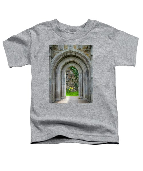 Toddler T-Shirt featuring the photograph Sculpted Portal To Irish Spring Garden by James Truett