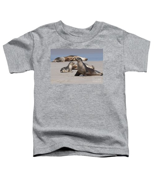 Toddler T-Shirt featuring the photograph Sea Lions by Werner Padarin