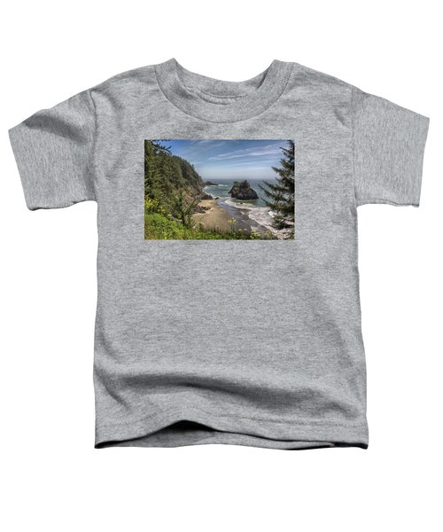 Sea Stacks And Wildflowers Toddler T-Shirt