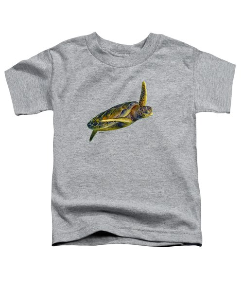 Sea Turtle 2 Toddler T-Shirt by Hailey E Herrera