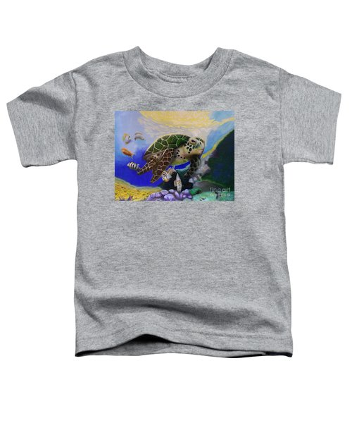 Sea Turtle Acrylic Painting Toddler T-Shirt