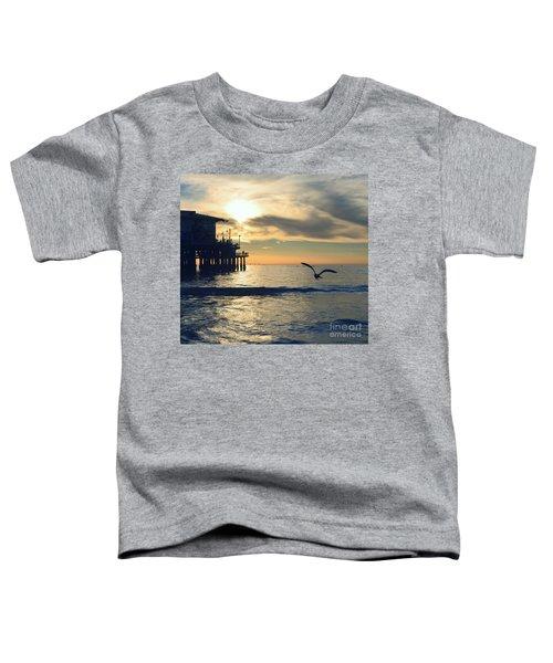 Seagull Pier Sunrise Seascape C2 Toddler T-Shirt
