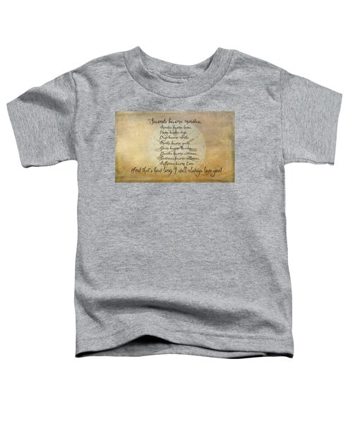 Seconds Become Eons Toddler T-Shirt
